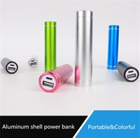 ingrosso batteria del cilindro-Cylinder shape 2600mAh Caricabatteria portatile portatile Power Bank 5V 1A Caricabatteria USB 18650 per tutti gli smartphone