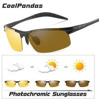 15cb7c2794 2018 Day Night Photochromic Polarized Sunglasses Men Sun glasses for Drivers  Safety Driving Fishing UV400 Goggles oculos de sol
