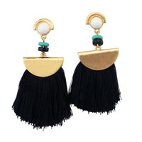 Wholesale thread jewellery resale online - New Women s Girls Elegant Jewellery Bohemia Ethnic Tassels Thread Clip Dangle Stud Earrings Eardrop Wedding Gift