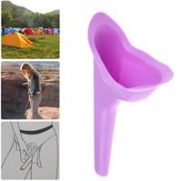 lagerstand großhandel-Tragbare Frauen Camping Urin Gerät Trichter Urinal Weibliche Reise Wasserlassen Wc Frauen Aufstehen Pee Soft