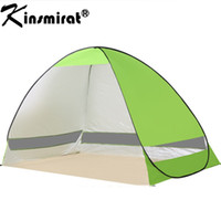 Wholesale pop up tent beach - 2017 Beach tent sun shelter UV-protective quick automatic opening tent shade lightwight pop up open for outdoor camping fishing
