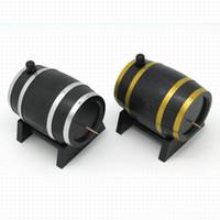 ingrosso nuovi barili di plastica-120PCS Popolare Brand New Wine Barrel di plastica automatica stuzzicadenti Box Dispenser Holder oro argento