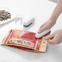 Wholesale heat seals online - Plastic Bag Sealing Machine Portable Snacks Bags Clips Household Mini Heat Sealer High Quality tq C