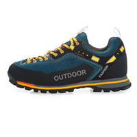 chaussures d'escalade extérieures respirantes achat en gros de-Chaussures de randonnée imperméables pour hommes Suede Mountain Escalade-Chaussures Qualité Outdoor Trekking Chaussures Respirant Randonnée Chasse
