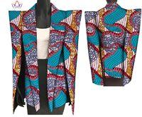 afrikanische tops-stile großhandel-2018 New African Print Wachs Mantel Dashiki Blazer Plus Größe 6xl Afrika Stil Kleidung für Frauen Crop Top Casual Mantel WY3199