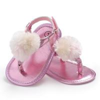 sandália descalça verão bebê venda por atacado-Bebê Sandálias Com Os Pés Descalços Anti-slip Sola Sapatos Recém-nascidos Infantil Sapatos Da Criança para a Menina menino Ocasional Fundo Macio Sapato de Verão 0-18 Meses