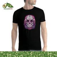violette rosen großhandel-Pink Skull Violet Roses Herren T-Shirt S - 3xlnew T-Shirts Lustige Tops T-Shirt Neue Unisex Lustige Qualität Lässig Druck 100% Baumwolle