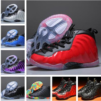 Wholesale Model Shoes Boys - 2018 Kids New Model Shoes Sports Penny Hardaway Children Red Suede Boys Basketball Footwear Sneakers tennis Shoes