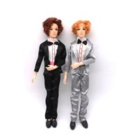 Wholesale Nude Toys - 30cm 14 Moveable Jointed Puppets With Clothes Male Man Toy Boyfriend Prince Nude Puppets DIY Learning Toys For Children