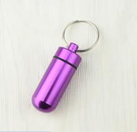 kleine medizinflaschen groihandel-Aufbewahrungsbox Kleine Pillendosen Tablet Medizin Flaschenbehälter Schlüsselbund Wasserdichte Aluminium Pill Box
