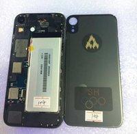 çin telefon dokunmatik toptan satış-Lcd ekran ile dokunmatik ekran Cam Panel 3543106 P pil arka kapak güç düğmeleri için çin MTK goophone 6.1 inç XR telefon