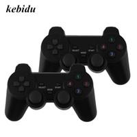 controladores de nível venda por atacado-Kebidu 2 pcs 2.4G USB Sem Fio Dupla Vibração Gamepad Controller Joystick Com 256 nível 3D Vara Analógica Para PC Portátil