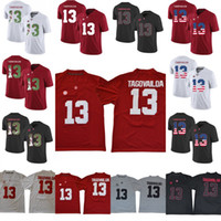 815795a6e44 Mens Women Youth 13 Tua Tagovailoa Alabama Crimson Tide NCAA College Football  Jerseys Double Stiched printing Fashion Red White Black