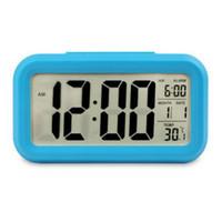 9fae9f32d7f 2018 1 pcs Digital Snooze Despertador Backlight LED Mesa Relógio Tempo Temperatura  Calendário