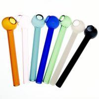 caveira de reciclagem venda por atacado-Tubo de vidro Crânio Tubos de Cabo de Fio Curvo Mini 3.9 polegadas Tubos de Fumo Mão Blown Recycler Melhor Queimador de Óleo