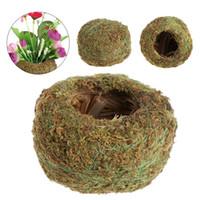 Wholesale moss balls wholesale online - Green Moss Ball Flower Pot Flower Bonsai Pot Holder for Garden Home Decorations Moss Ball Plant Pot