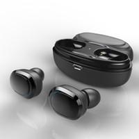 micrófono dual al por mayor-T12 TWS caja de carga para auriculares gemelos Mini Bluetooth V4.1 auriculares auriculares inalámbricos dobles para auriculares Auriculares estéreo dobles con micrófono