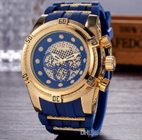 Wholesale mens watch invicta - invicta All Subdials Work AAA Mens Watches Steel Quartz Wristwatches Stopwatch Luxury Watch Top Brand relogies for men relojes Best Gift