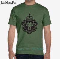 kings fashion fotografías al por mayor-La Maxza Designing T Shirt Fashion King Lion Tshirt para hombres fotos camiseta Personnalise luz del sol grandes tamaños de alta calidad