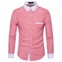vêtements intelligents achat en gros de-Smart Casual Chemise Hommes Rayé Vêtements De Bureau Tops Nouveauté Homme Travail Blouse Punk Rock Beau Chemises Parti Streetwear Chemise
