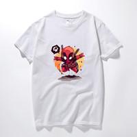 Wholesale deadpool costume women online - Deadpool Cosplay Costume T Shirt d Black Men Women Boy Marvel Cotton Funny T Shirt For Kids Cartoon Summer Geek Top Tees
