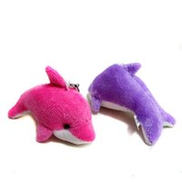 Wholesale dolphin plush for sale - 2018 Lovely Mini Cute Dolphin Charms Kids Plush Toys Home Party Pendant Gift Decorations epacket OTH583