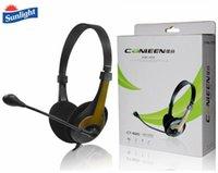 universal-kopfhörer großhandel-3,5 mm Headset Gaming Gaming Kopfhörer mit Weizen Mikrofon Kopfhörer LED Notebook Tablet PC / PS4 / Mobile Universal Kopfhörer