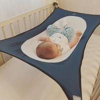 Wholesale portable swings resale online - Baby Hammock Newborn Infants Hammock Detachable Portable Folding Crib Cotton Newborn Sleeping Bed Outdoor Garden Swing
