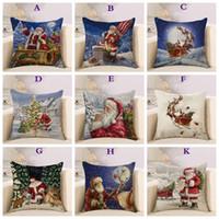 Wholesale hug pillows - Christmas elements festive pillow case new fashion cushion lumbar pillowcase kids gift car sofa hug pillowcase
