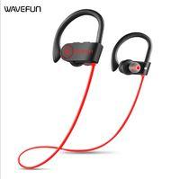 ipx7 bluetooth оптовых-Новое прибытие Wavefun Bluetooth наушники IPX7 водонепроницаемый беспроводные наушники спорт бас Bluetooth наушники с микрофоном для телефона iPhone xiaomi