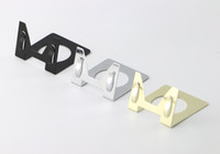 Wholesale name card stand holder - 20 pcs metal label holder desktop ticket sign card price tag clip showing stand sign name label card clamp