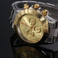 ingrosso oro jaragar-2016 Nuovo orologio automatico da uomo Automatico di Jaragar multifunzione orologi di design di marca top hombre vintage orologio d'oro di lusso D18100706