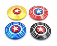 spinner visão ouro venda por atacado-Fidget Spinner Americano Capitão de Rolamento Rápido Aranha Mão Dedo Spinner gyro EDC ADHD Rotação Anti Stress liga de Alum ...