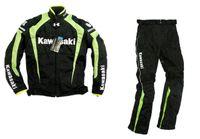 гоночная одежда для мотоциклов оптовых-New kawasaki Racing Wear / Racing Sets одежда для бездорожья для мотоциклов / одежда для езды на велосипеде / одежда для велоспорта / мотоциклетные куртки / комплекты для верховой езды ветрозащитные