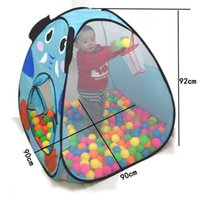 Wholesale Pool Safe - Hot Sale Foldable Cartoon Indoor Safe Game Play House Tents Kids Baby Ocean Ball Pit Pool Tent Play Toy Tent Without Balls