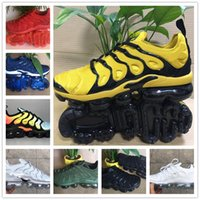 Wholesale light up basketball - Sales Original 2018 NEW Vapormax TN Plus Men Shoes For Cheap Air Tn Plus white Black blue Basketball Running Shoes Tn Requin Chaussures
