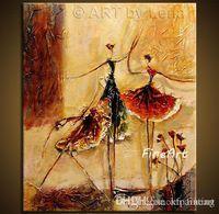 tanz wand leinwand großhandel-handgemalte abstrakte Tanzmalerei zum Verkauf Moderne Kunstmalereien Acryl Wandmalerei Leinwand Kunst dekorative Wandbilder