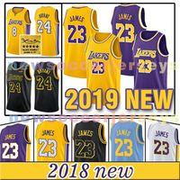 Wholesale basketball mike - 2018-2019 Los Angeles Lakers jersey LeBron James 24 Kobe Bryant LeBron MEN'S Basketball Jersey 2 Lonzo Ball