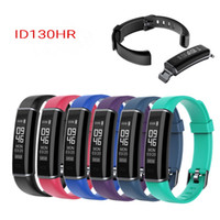 Wholesale Waterproof Cell Phone Watches - ID130HR Smart Bracelet Waterproof 24 hour Heart Rate Monitor Fitness Tracker Bluetooth Sport Smart Watch for Iphone X Android Cell Phone
