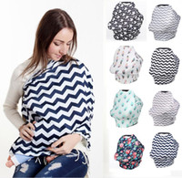 Wholesale black pink seat cover for sale - Group buy Multi Use Stretchy Baby Nursing Breastfeeding Privacy Cover with Button Scarf Blanket Stripe Infinity Scarf Nursing Baby Car Seat Cover