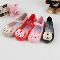 Wholesale Girls Shoes Rabbit - Melissa Children Sandals cartoon jelly rabbit princess shoes 2018 new PVC Soft bottom girls summer shoes 4 colors C3810