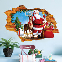 wallpapers stickers Canada - Santa Claus Wallpapers Stickers My House 2019 Happy New Year Merry Christmas Household Room Wall Sticker Mural Decor Decal