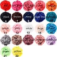 Wholesale diy rose headband resale online - Nishine cm Colors Satin Rolled Rose Flowers For Diy Hair Clips Headband Children Girls Handmade Hair Accessories