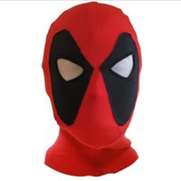 ingrosso cappelli supereroi-Halloween Cosplay Deadpool Maschere Supereroe Balaclava Costume X-men Cappelli Copricapo Freccia Party Neck Hood Maschera a pieno facciale