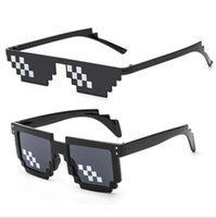 Sonnenbrillen Mosaik Gläser Thug Life 8 Bit Mlg Pixelated Sonnenbrille Frauen Mode Minecraft Weibliche Männer Sonnenbrille Vintage Brillen Bekleidung Zubehör