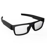 gafas de sol de video al por mayor-Mini videocámara portátil Gafas inteligentes Manos libres Grabador de video HD 1080 P Cámara de instantáneas Gafas Gafas de sol de sol Deporte al aire libre DV DVR
