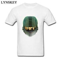 ingrosso vestiti freddi del partito-Nuovo arrivo Halo Party Army Cool Design T-shirt da uomo in cotone Abbigliamento Rock Roll Elegante Mens Top Teeshirt