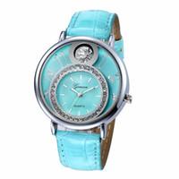 Wholesale big geneva watches for sale - Group buy Fashion women geneva big diamond leather watch special design ladies casual dress party quarz wrist watches