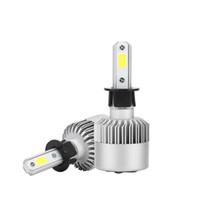 Wholesale single 12v led bulbs for sale - Group buy H3 COB LED Headlight Bulbs W LM Single Beam Auto Headlamp All In One Car LED Headlights Conversion Kit Fog Lamp V