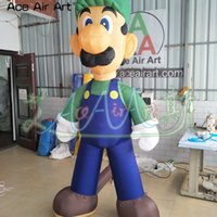 Wholesale mario characters for sale - Group buy Customized cartoon character inflatable luigi model party event decoration giant outdoor super mario model for promotion